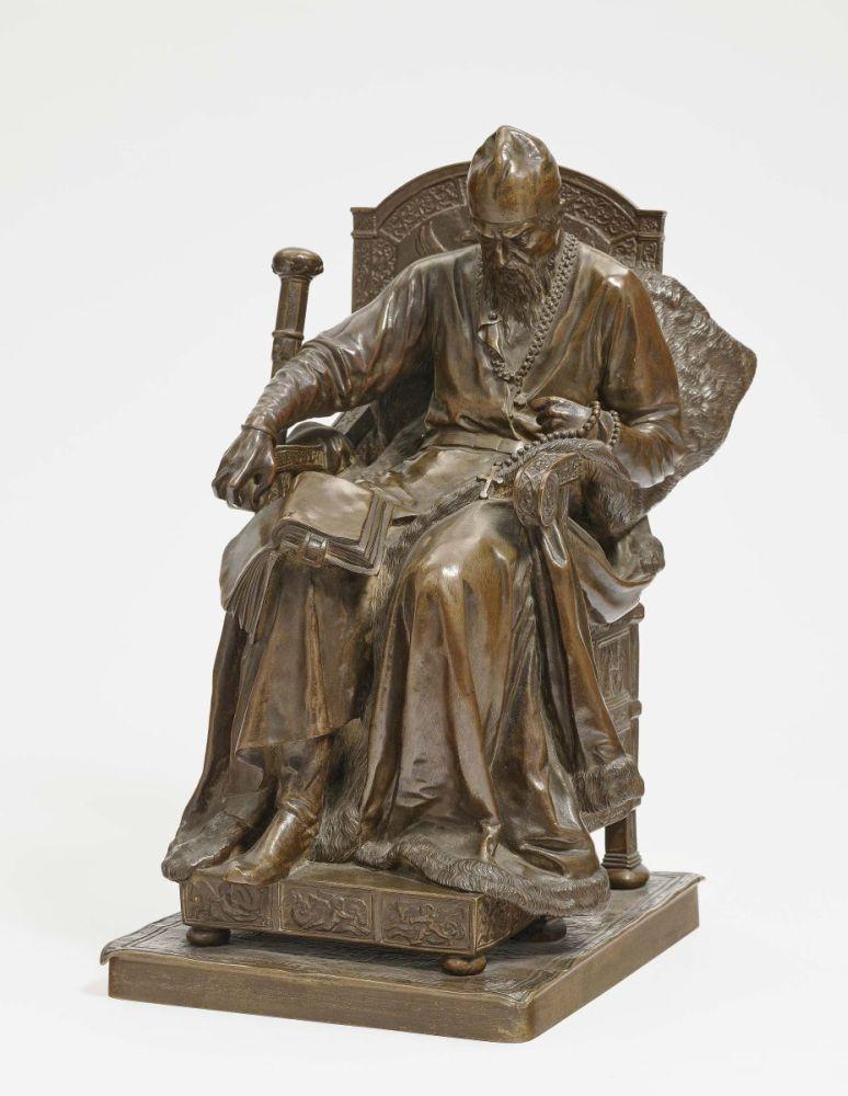 Russian artist Mark Antokolsky bronze statue of Ivan Terrible