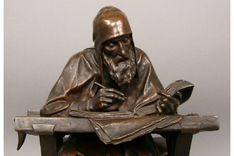 Нестор-летописец-Россия марк антокольский бронза скульптура