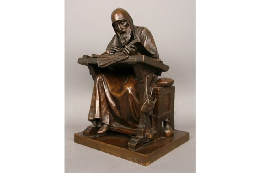 Mark Antokolsky statue of Nestor the Chronicle bronze Russian