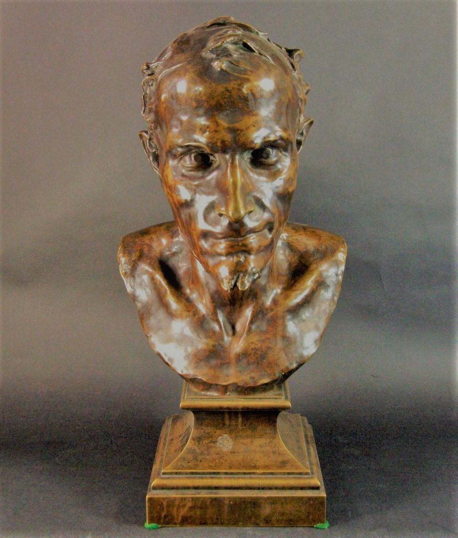 bust bronze Mephistopheles devil Antokolsky Mark
