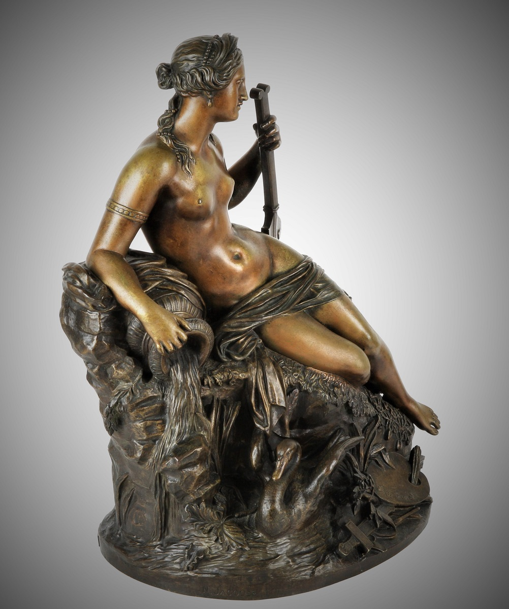 Allegory of a river bronze statue N.Jaques