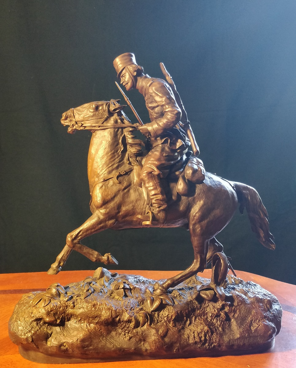 Василий Яковлевич Грачев Казак с копьём на коне бронза