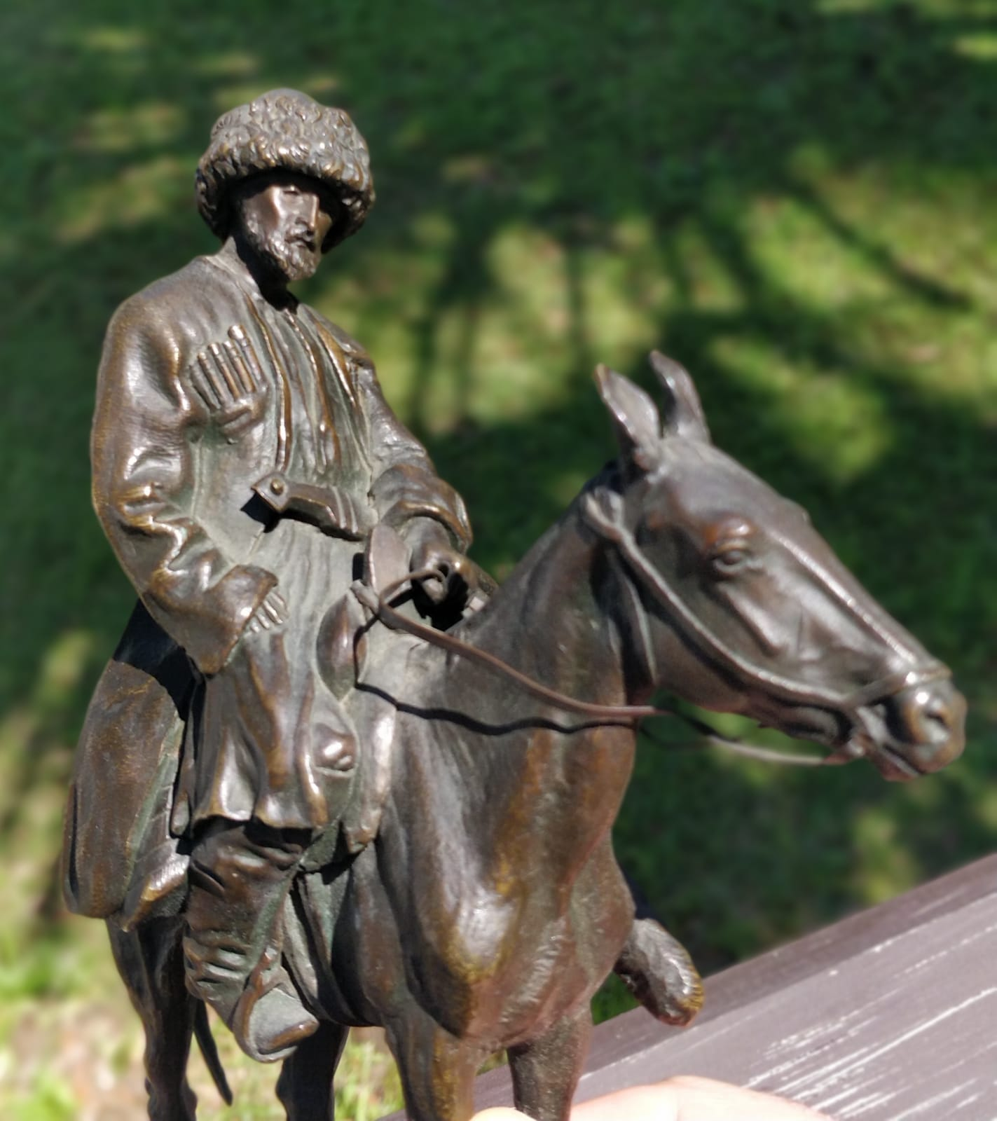 Russian bronze statue Osetin-Ossetian by E.Lansere-Lanceray