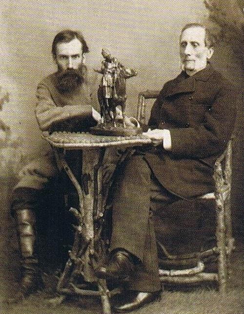 Фото Евгения Александровича Лансере с Феликсом Шопеном - скульптор и литейщик