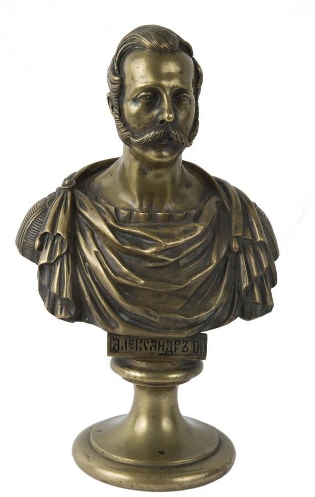 Chopins-bust-gallery - Alexander-II-bronze-bust-statue-Russian