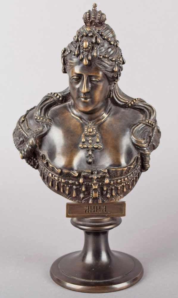 Chopins-bust-gallery - Anna-Ioannovna-bronze-bust-Chopin-round-stamp-1868