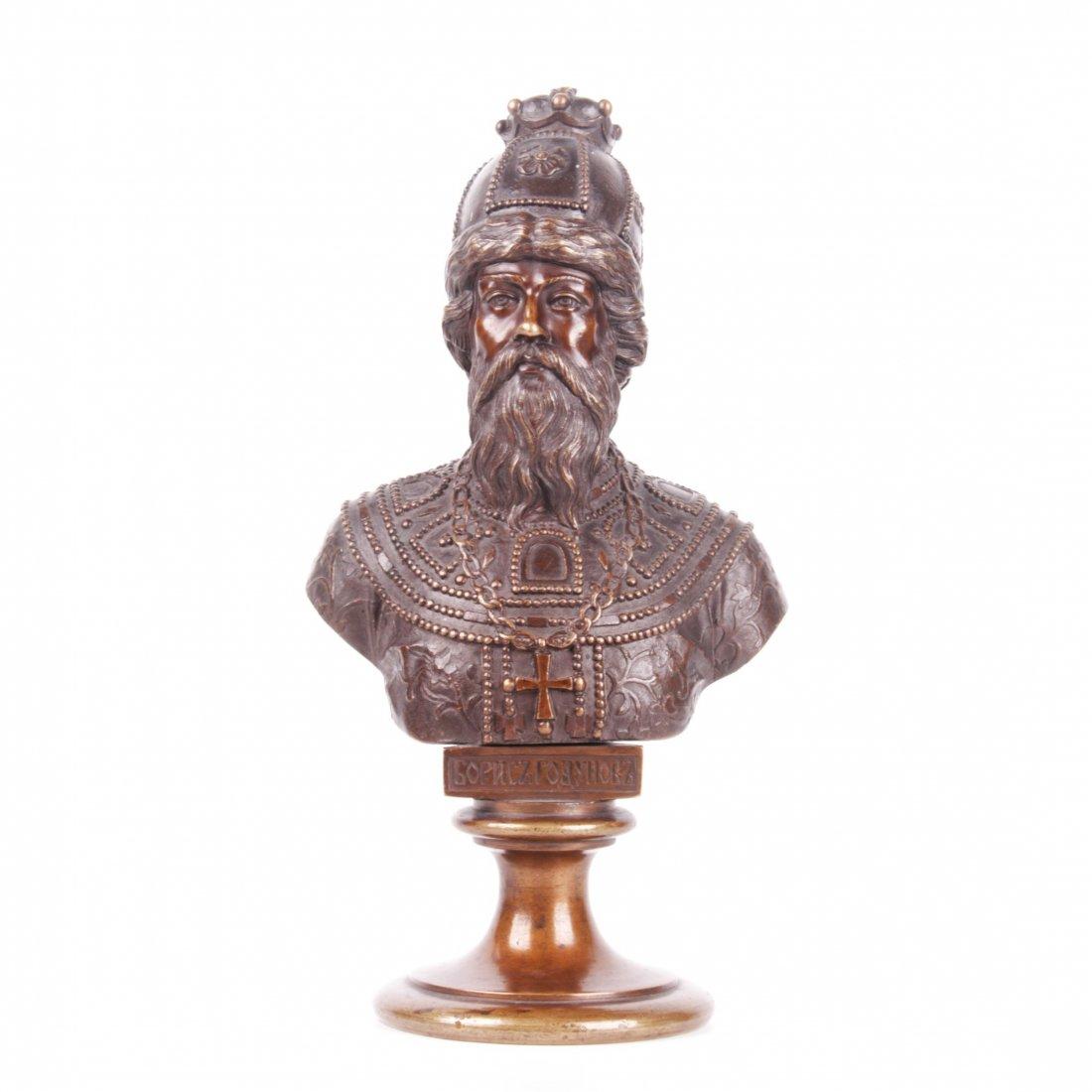 Chopins-bust-gallery - Boris-godunov-bronze-bust-russia-chopin-cyrillic