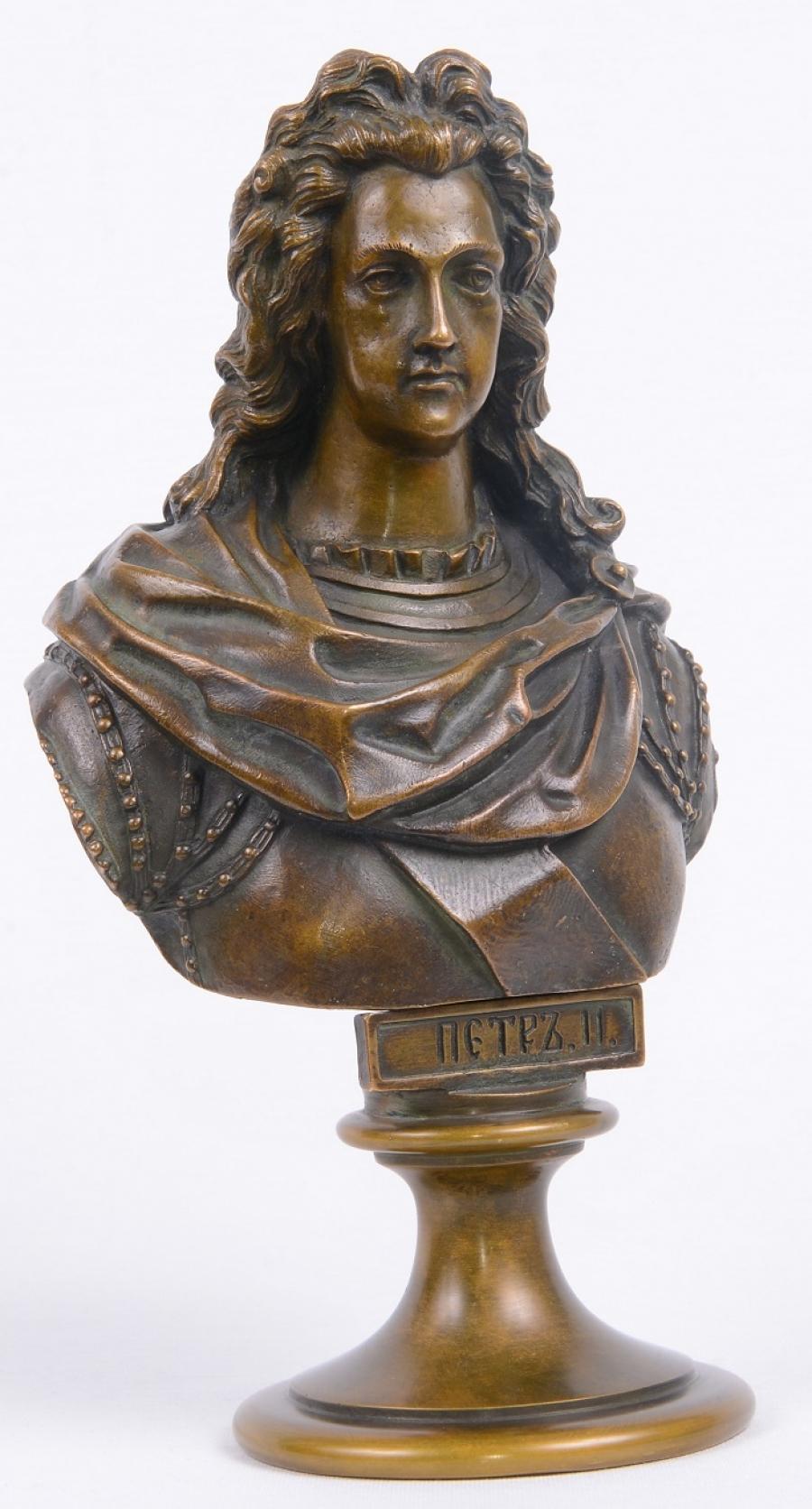 Chopins-bust-gallery - Peter-II-tsar-Russian-bronze-statue-CHopin-Felix-foundry