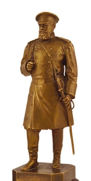 Russian Tsar Alexander Third-Russian-bronze-statue-antique