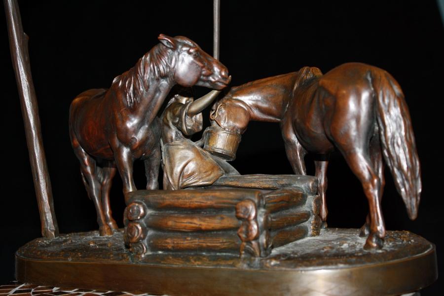 albert-moritz-wolf - skulptur-bronze-russland-russicher-horses