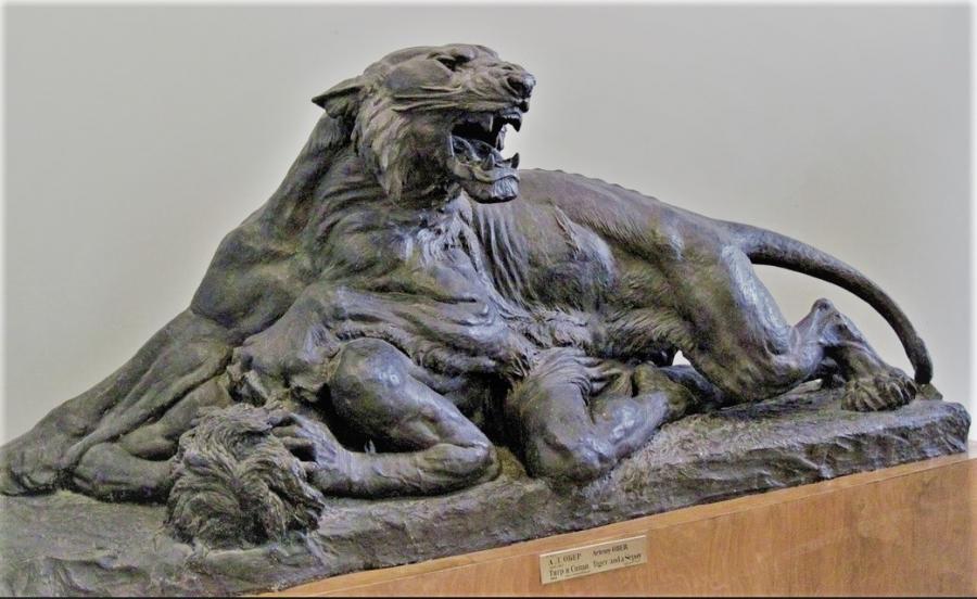 artemy-ober - artemy-ober-bronze-muzeum_tiger_and_sepay