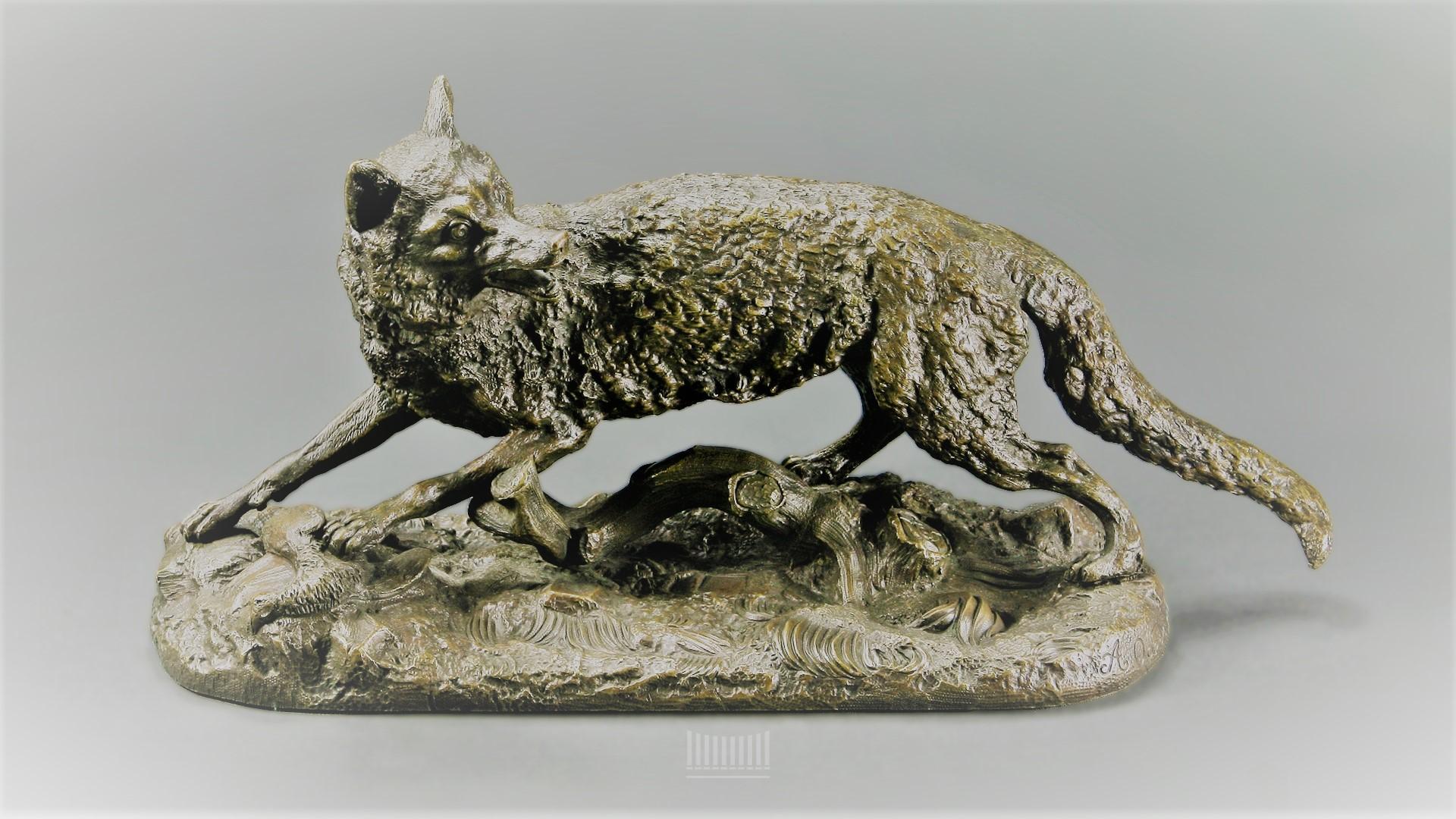 artemy-ober - ober-artemy-fox-bronze-sculpture-statue