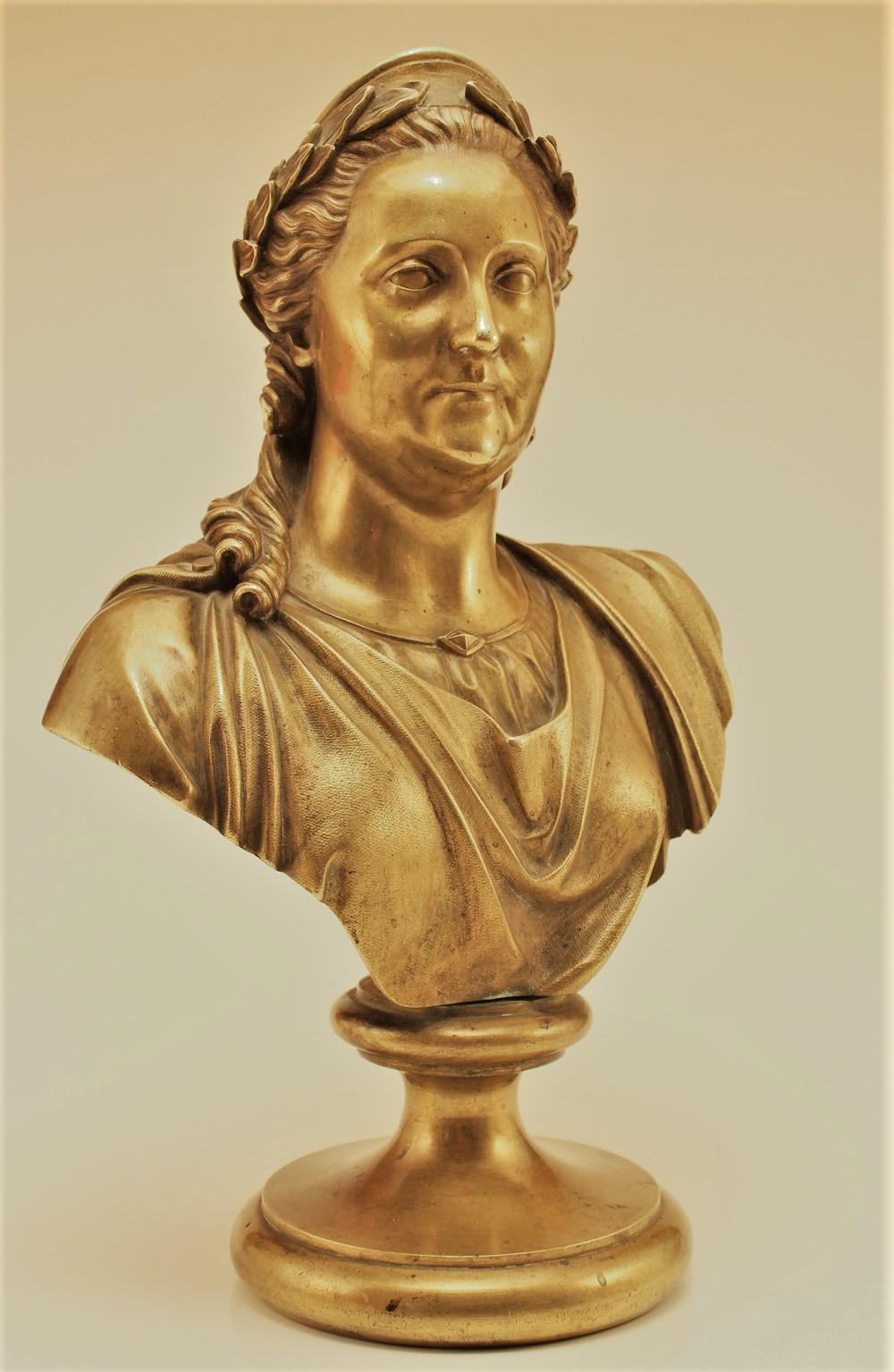 baron-peter-klodt - peter-baron-von-klodt-bronze-bust-ekaterina