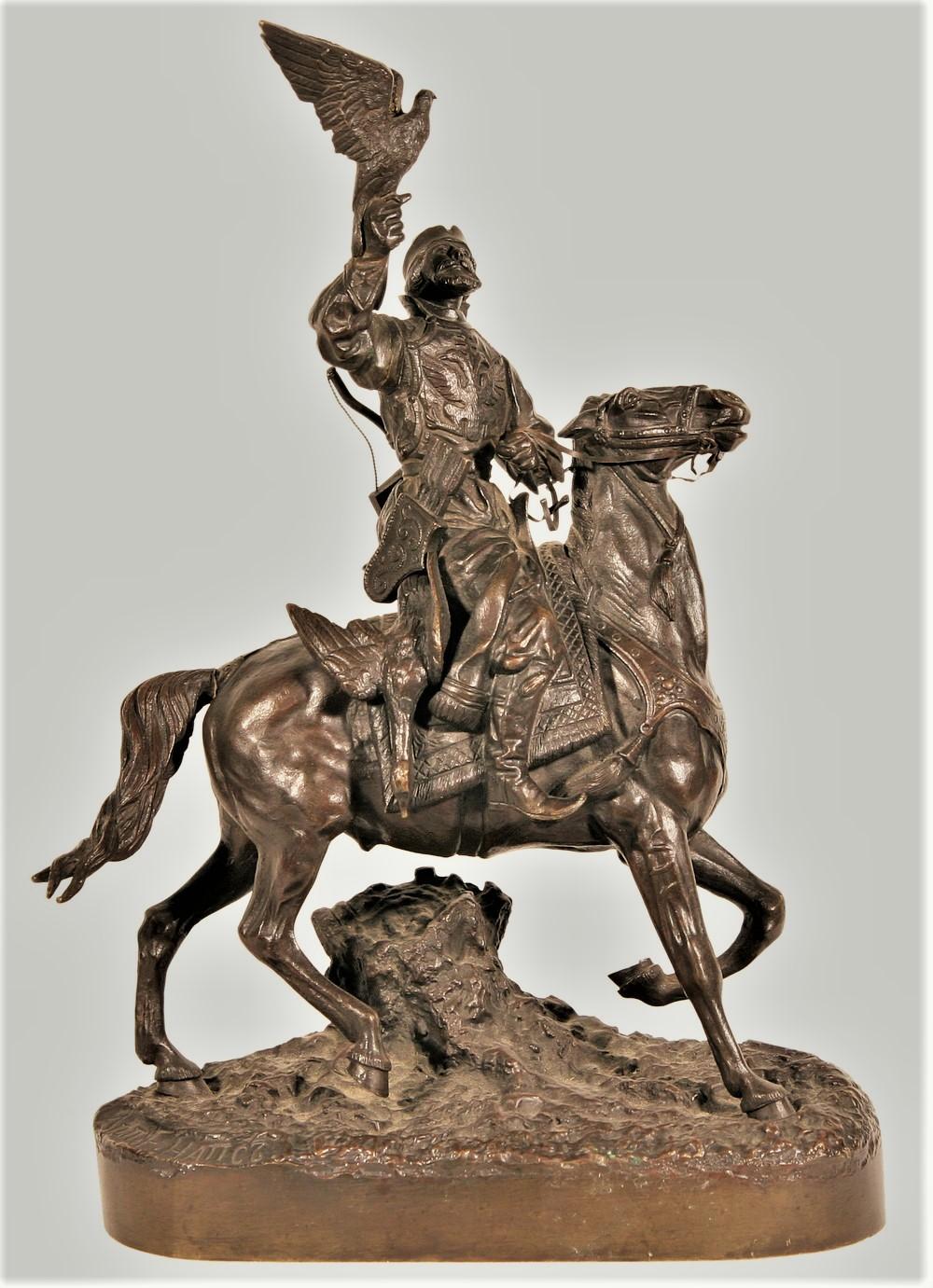 eugeny-naps - falconer-bronze-russian-naps-statue