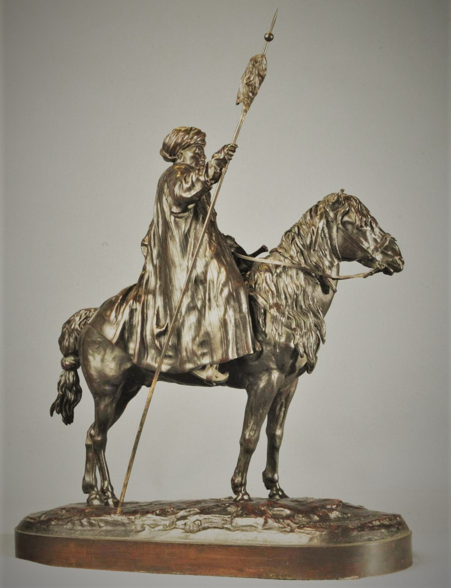 afghan - afghan-horseback-spear-eugeny-alexandrovich-lanceray-bronze-russian-cast-