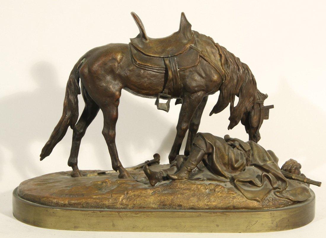 arab - Lanceray-Lansere-modèle-cheval-arabe-tombé-soldat-russe