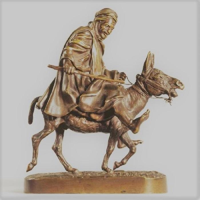 arab - arab-lanceray-donkey-ride-bronze-russian