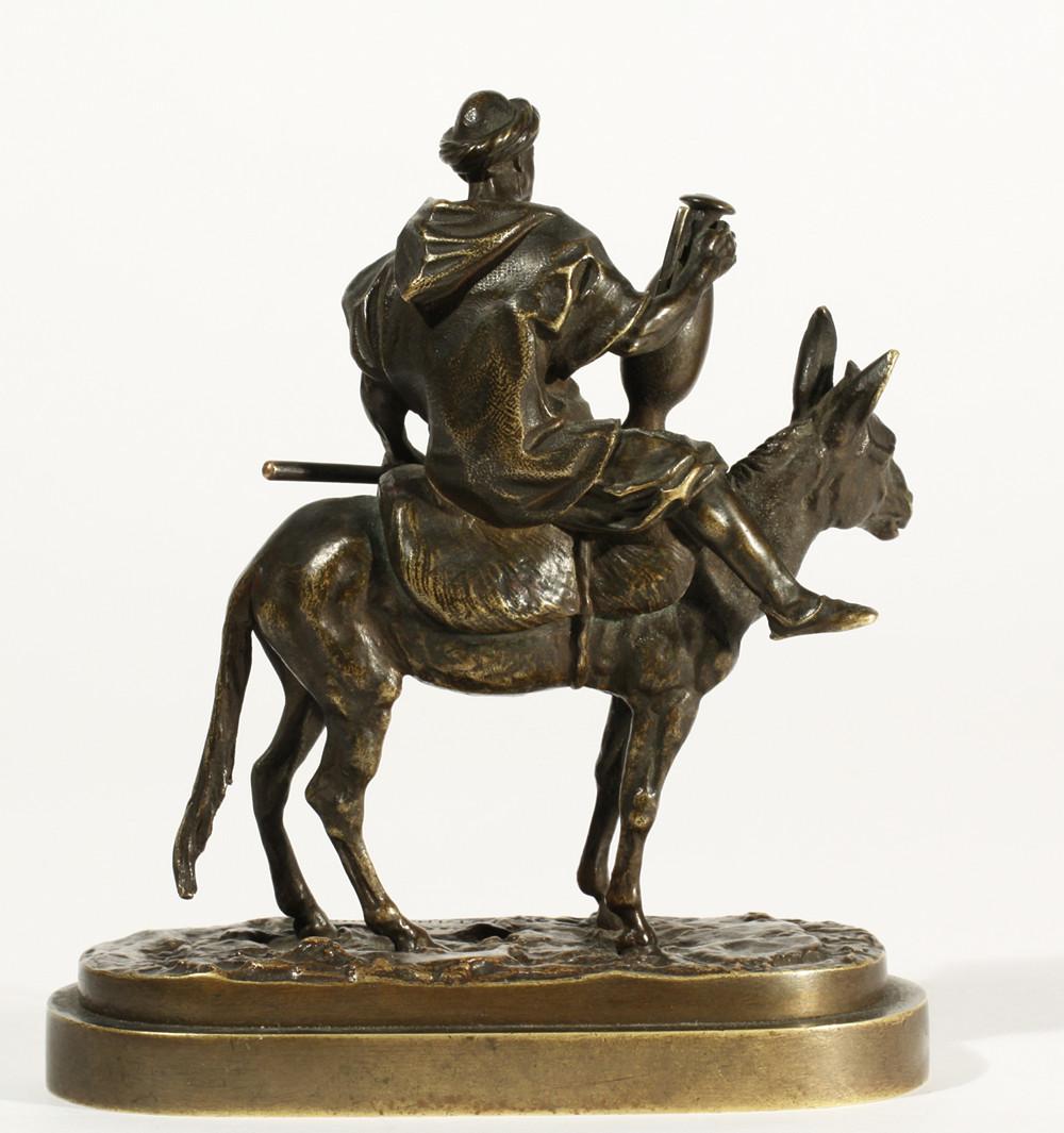 arab - petit-fellah-garçon-arabe-camfora-âne-cavalier-cyrillique-lanceray-signature-marquage
