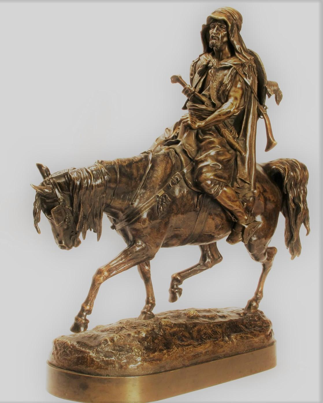 arab - sheih-arab-rider-bronze-russian-lanceray-lansere-shopen-berto-foundry
