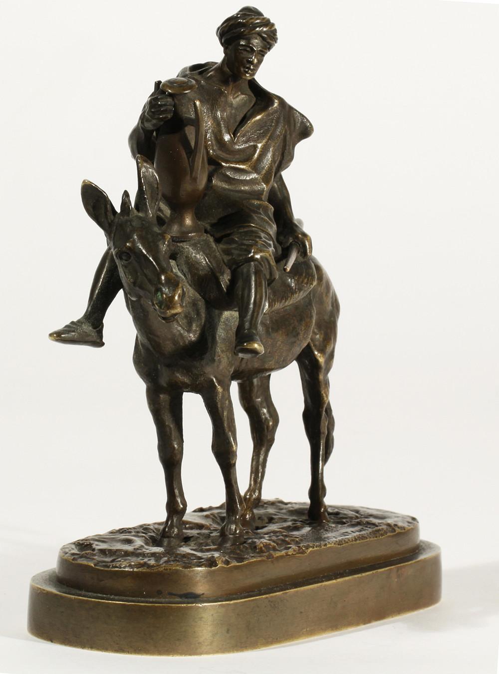 arab - small-fellah-arab-boy-camfora-donkey-rider-cyrillic-lanceray-signature-marcado