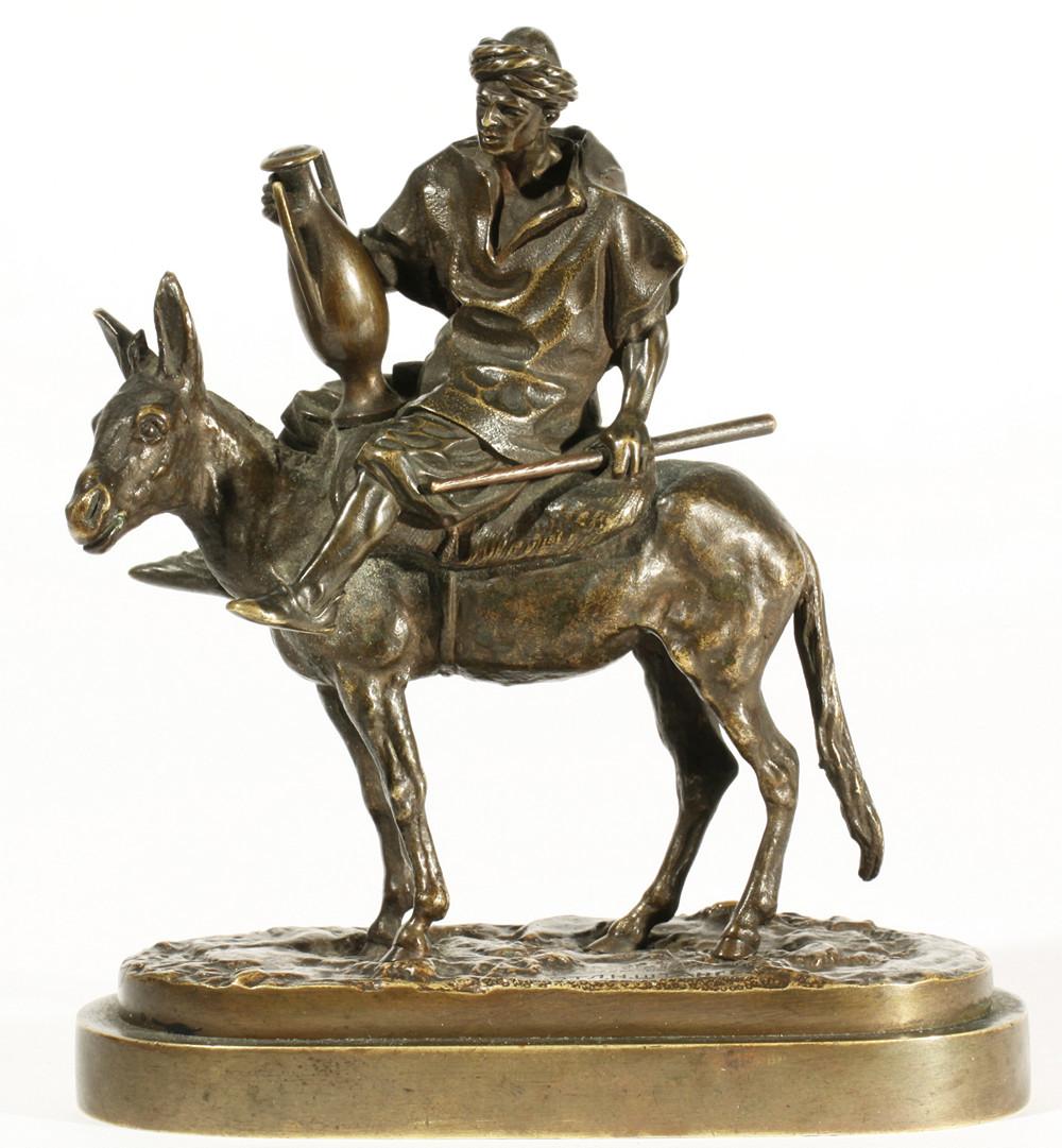 arab - small-fellah-arab-boy-camfora-donkey-rider-cyrillic-lanceray-signature-marking