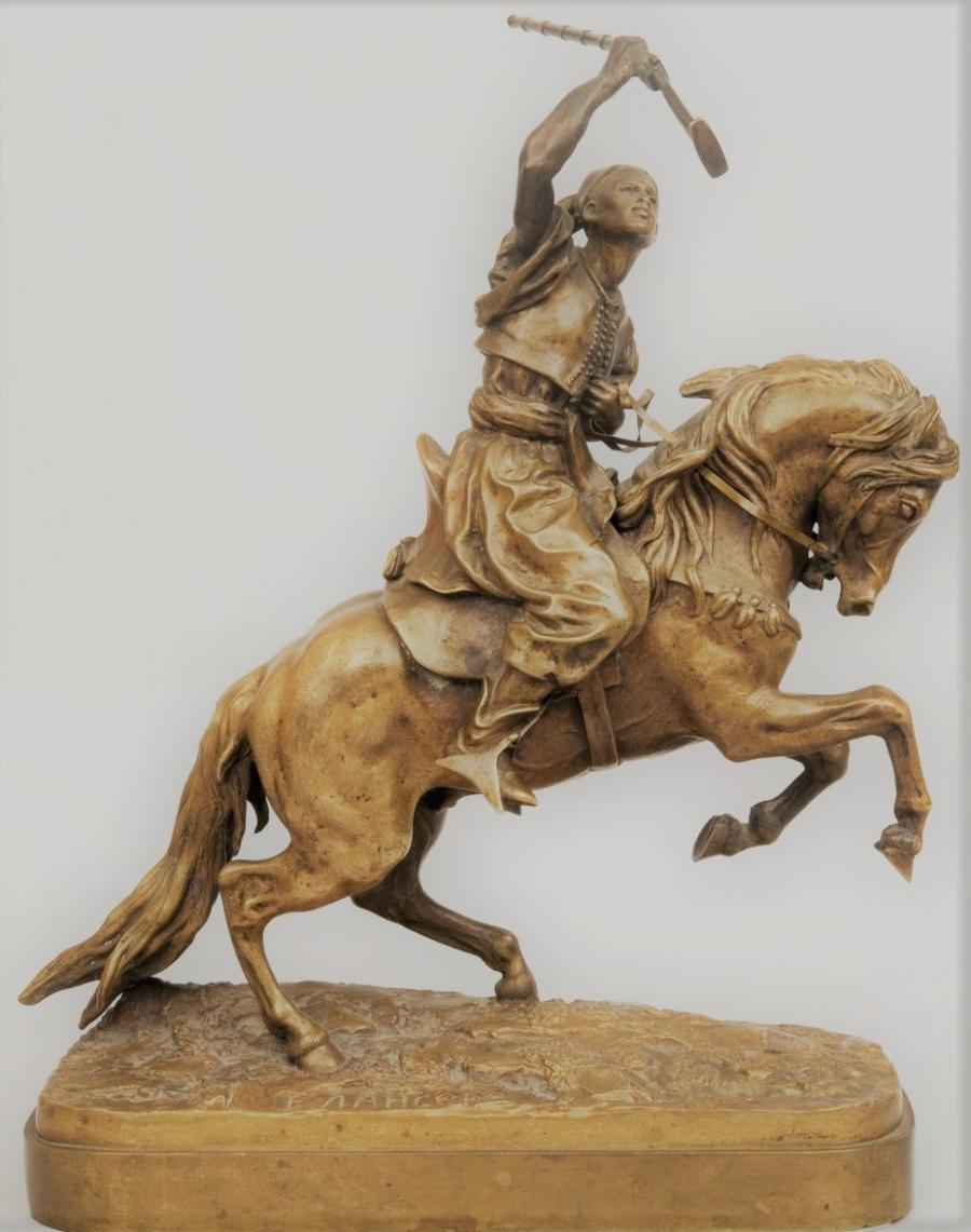 arab - young-maure-arab-bronze-lanceray-russian