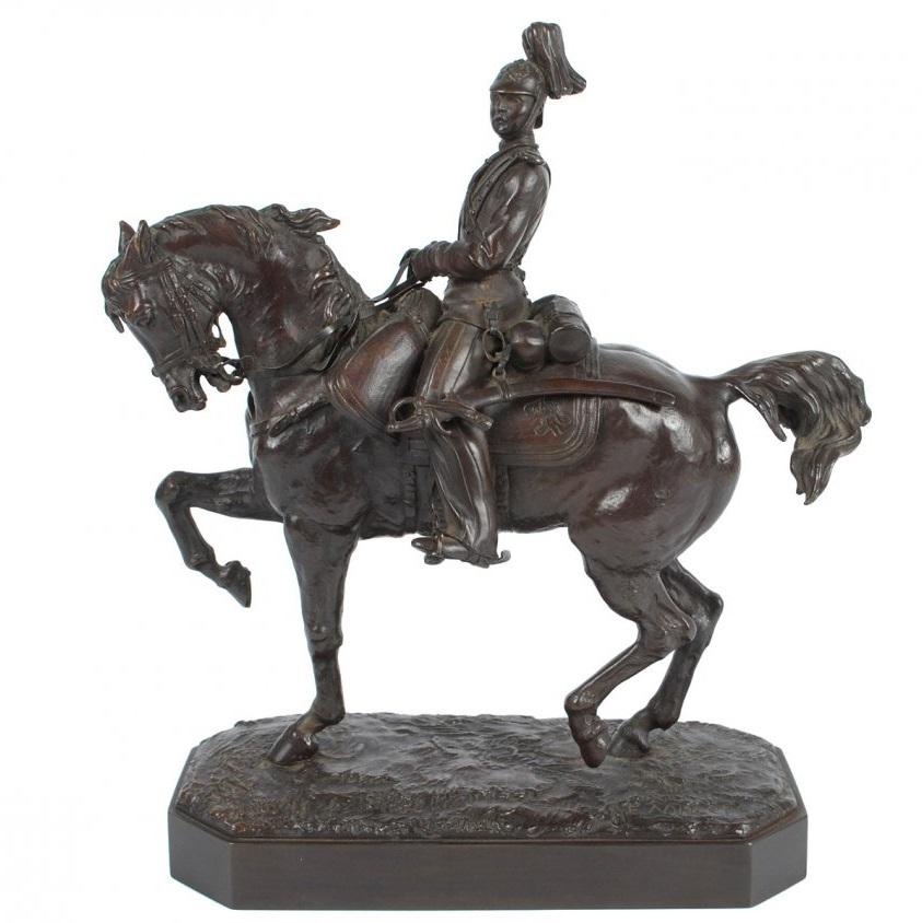 cossack - Russian-Gussard-Lanceray-bronze