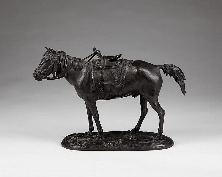 horses - Boukhara_Horse_Lanceray-bronze-Russian