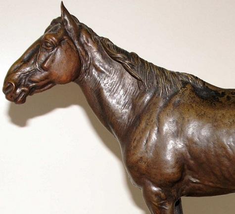 horses - Orlovsky-орловский-рысак-лошадь-конь-лансере-скульптура-бронза-париж