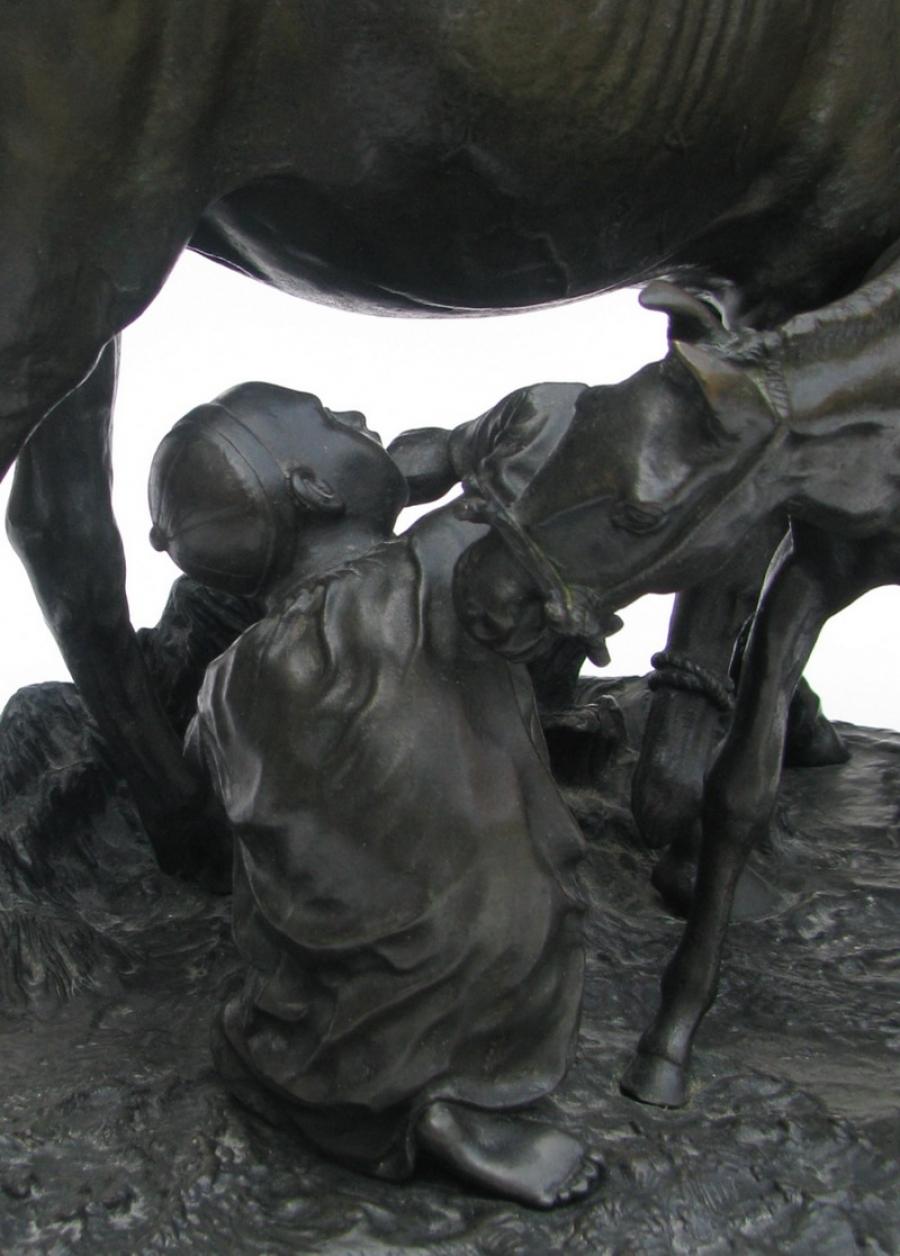 horses - Russian-Tatarchonok-Tatar-boy-Lanceray-bronze-3