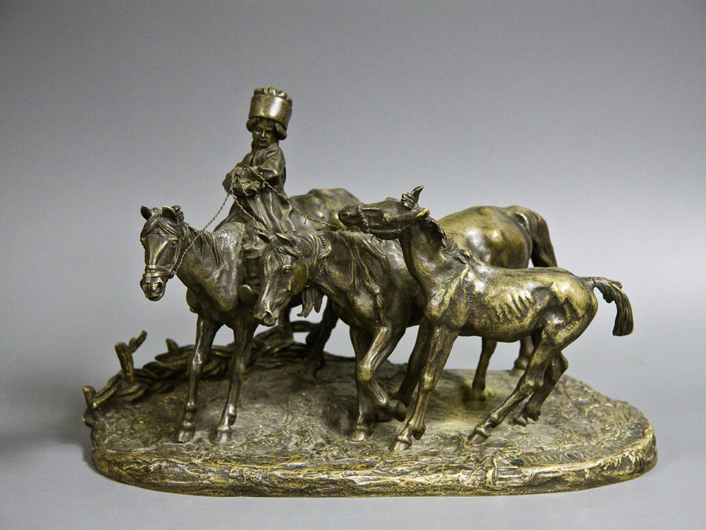 horses - little-cowboy-bronze_russian-lanceray