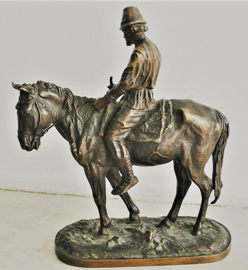 russian-peasants-group - -лансере-бронза-мужик-на-лошади