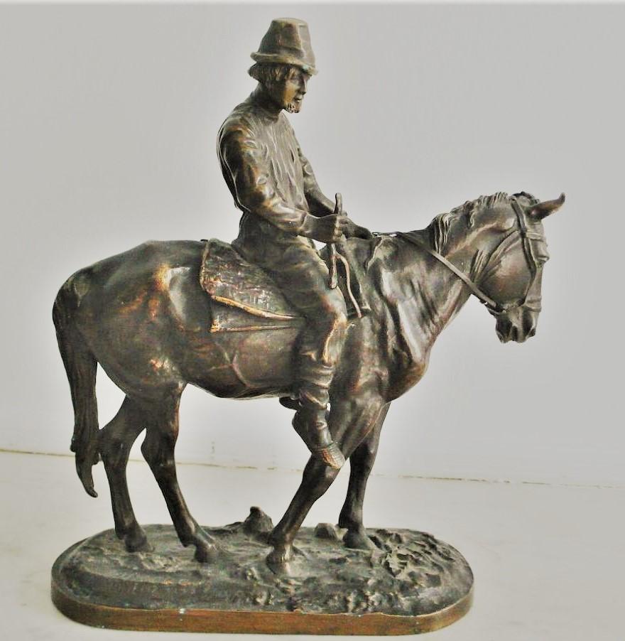 russian-peasants-group - Lanceray-bronze-peasant-on-horseback-russian-foundry-artist