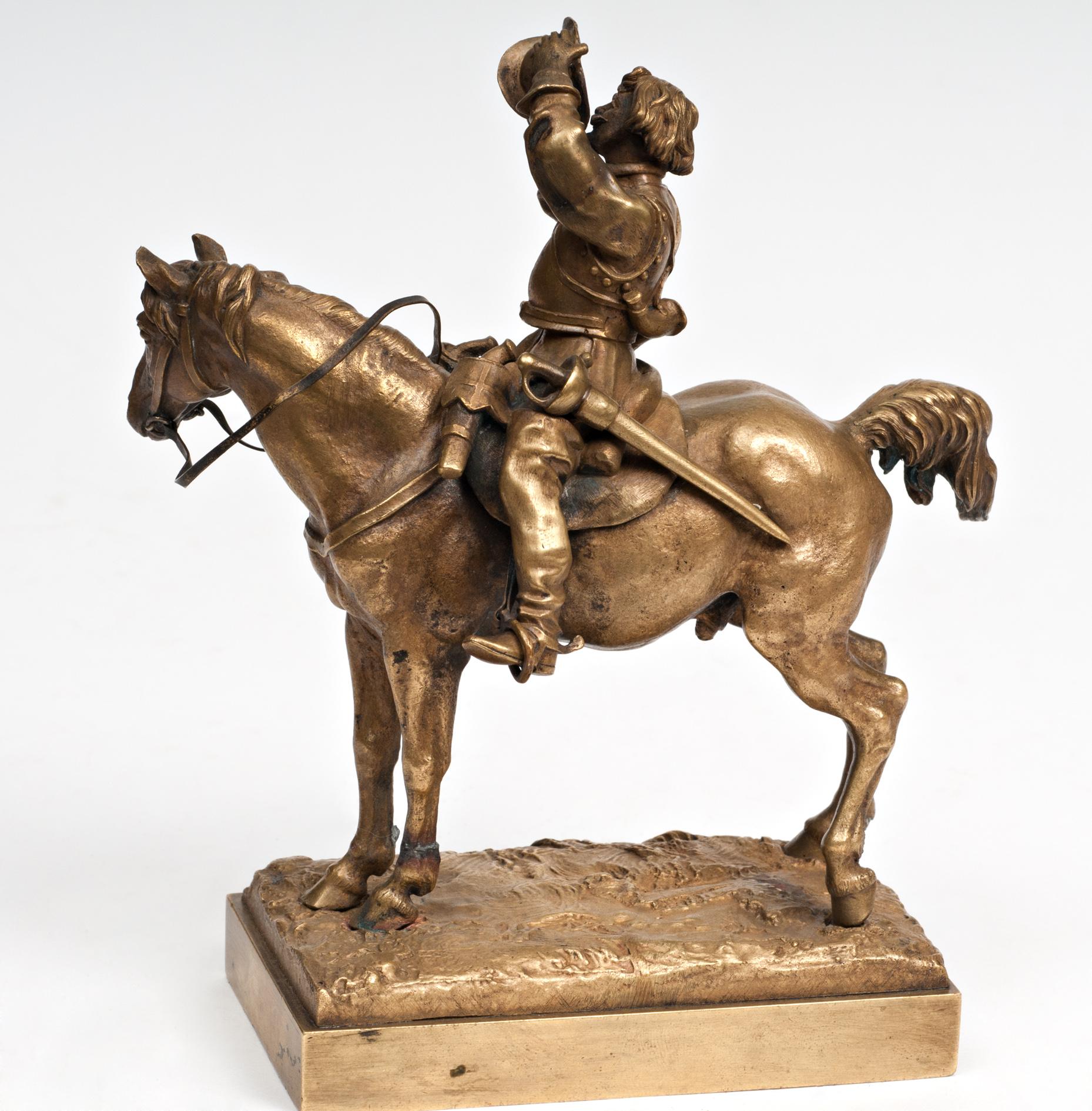 french-france - -ковалер-конь-пьёт-лансере-бронза-шопен-коллекция