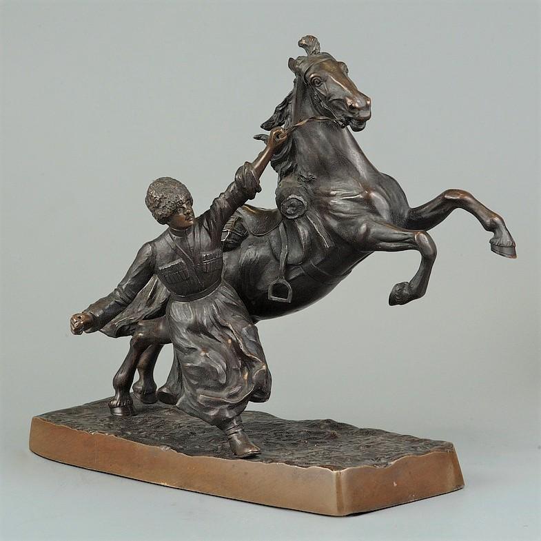 hans-guradze - -бронза-казак-лошадь-конь