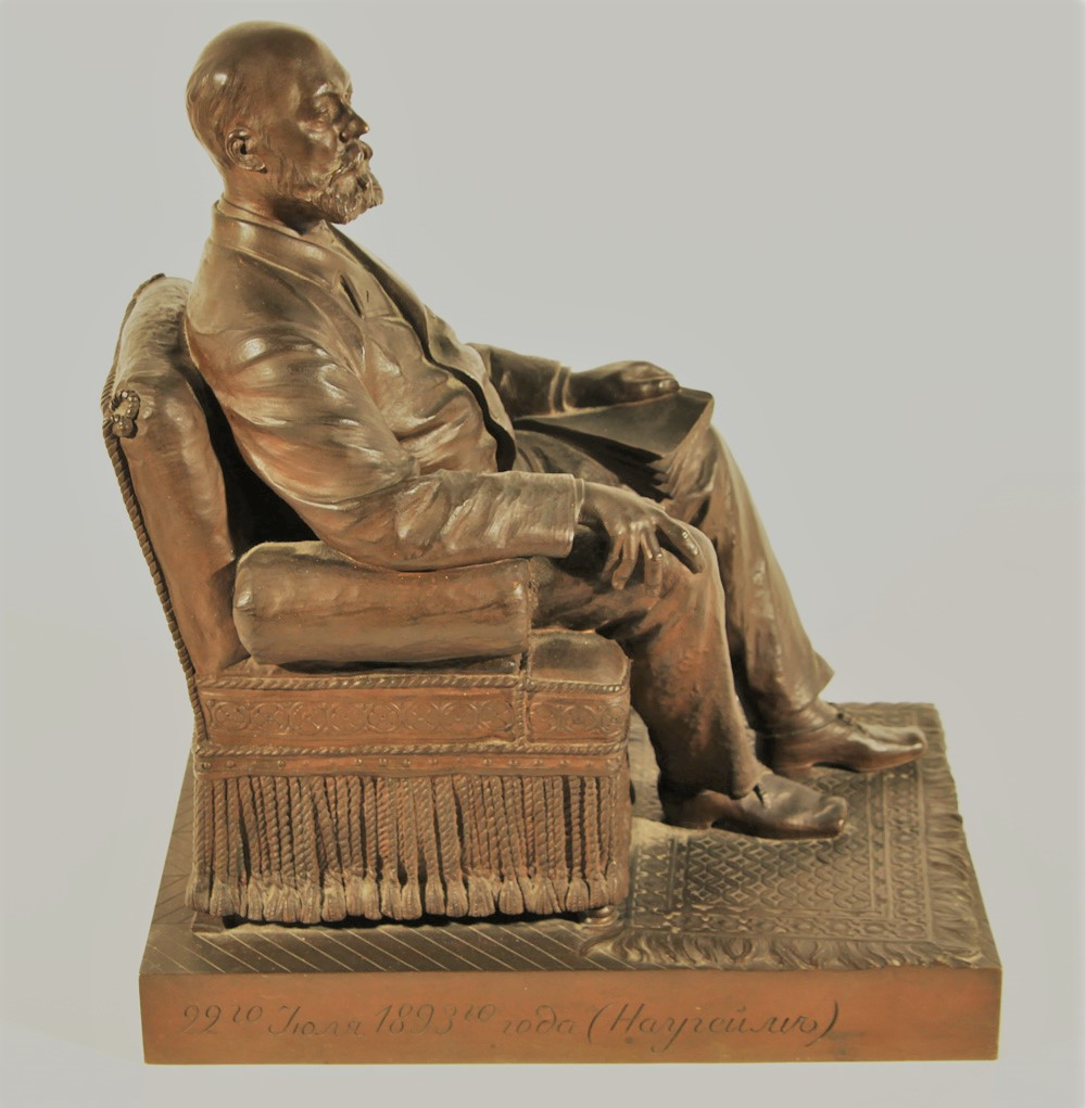 ilya-ginzburg - ilya-ginzburg-bronze-seated-man-person-russian