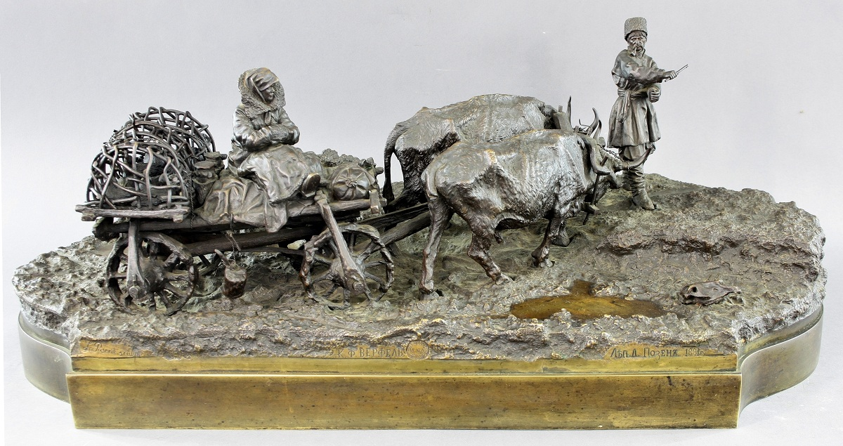 leonid-pozen-posen-posene - Leonid-Posen-Posene-Bull-cart_Russian-peasants-with-chicken-1200