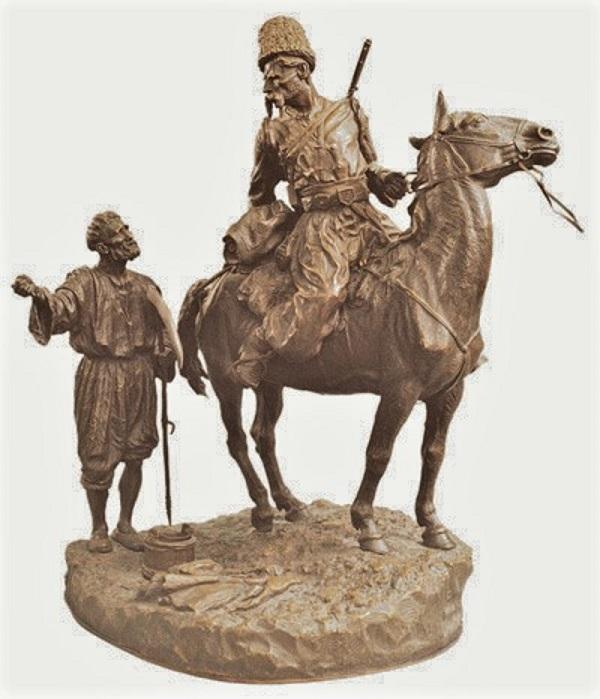 leonid-pozen-posen-posene - Leonid_Pozen_Zaporozhets-v-razvedke-russian-bronze