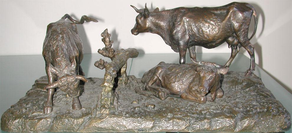 leonid-pozen-posen-posene - cows-pozen-posene-bromze-statue-russian