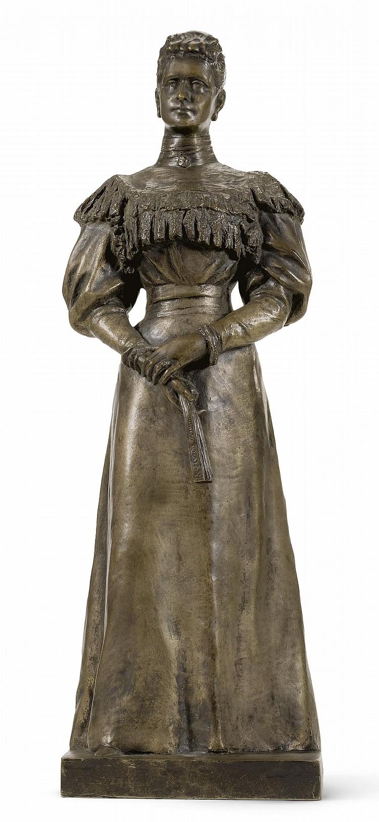 leopold-bernstamm - empress-alexandra-bronze-statue-bernstamm-1