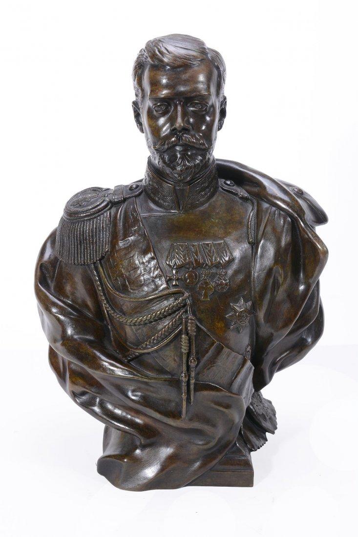 leopold-bernstamm - russian-emperor-nikoolay-nicolas-the-second-bronze-leopold-bernstamm