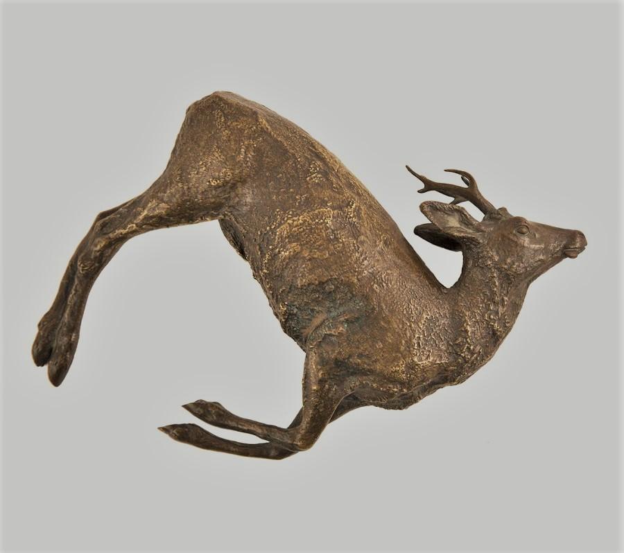 nikolay-ivanovivh-leiberich - Dear-killed-hunting-lieberich-bronze-russian