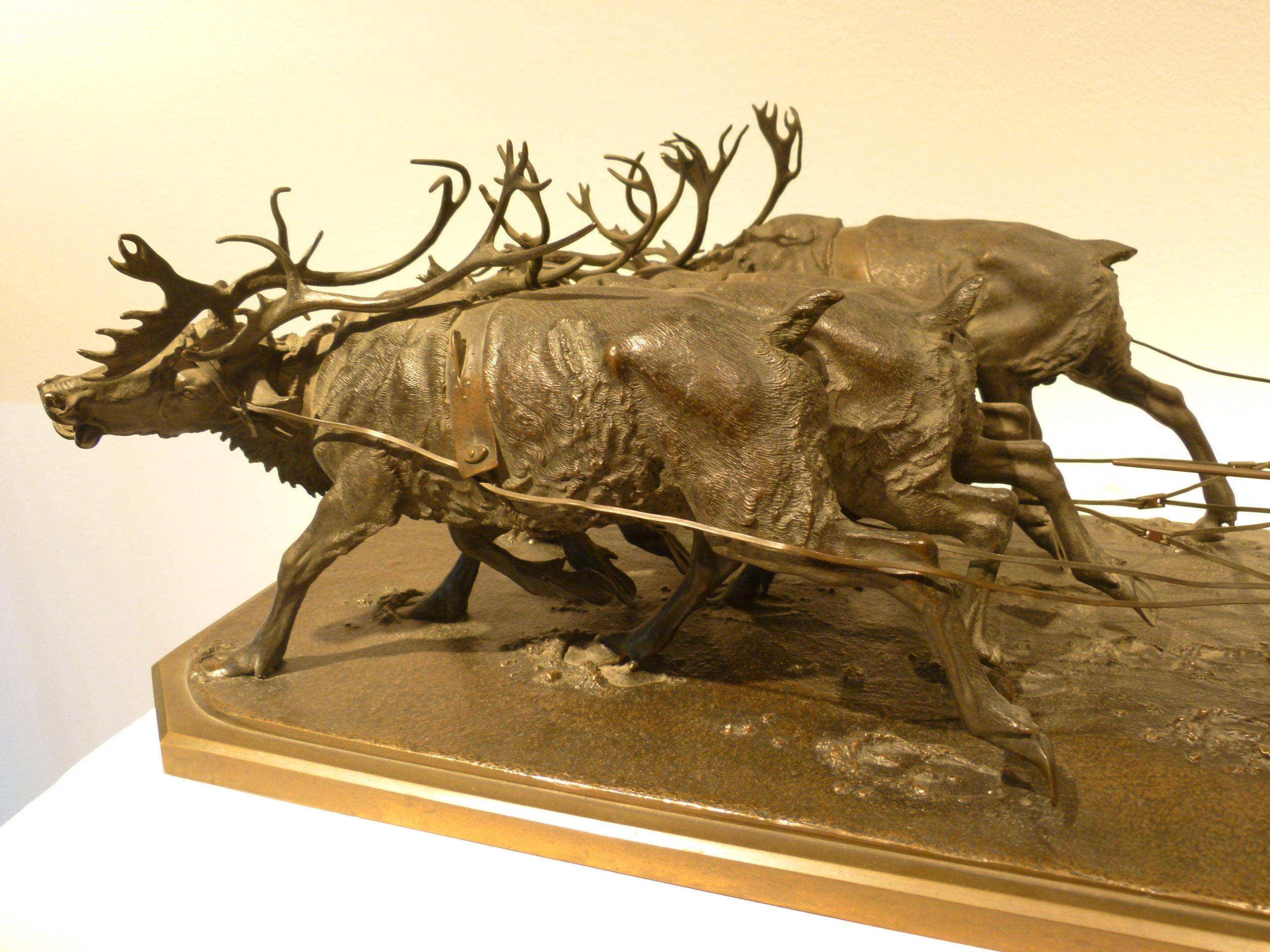 nikolay-ivanovivh-leiberich - russian-lieberich-ivanovich-bronze-four-stugs-statue-russian-marking