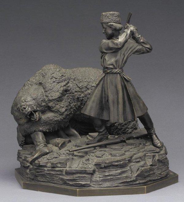 nikolay-ivanovivh-leiberich - sotherbys-auction-lieberich-bear-attack-russian-bronze-woerffel