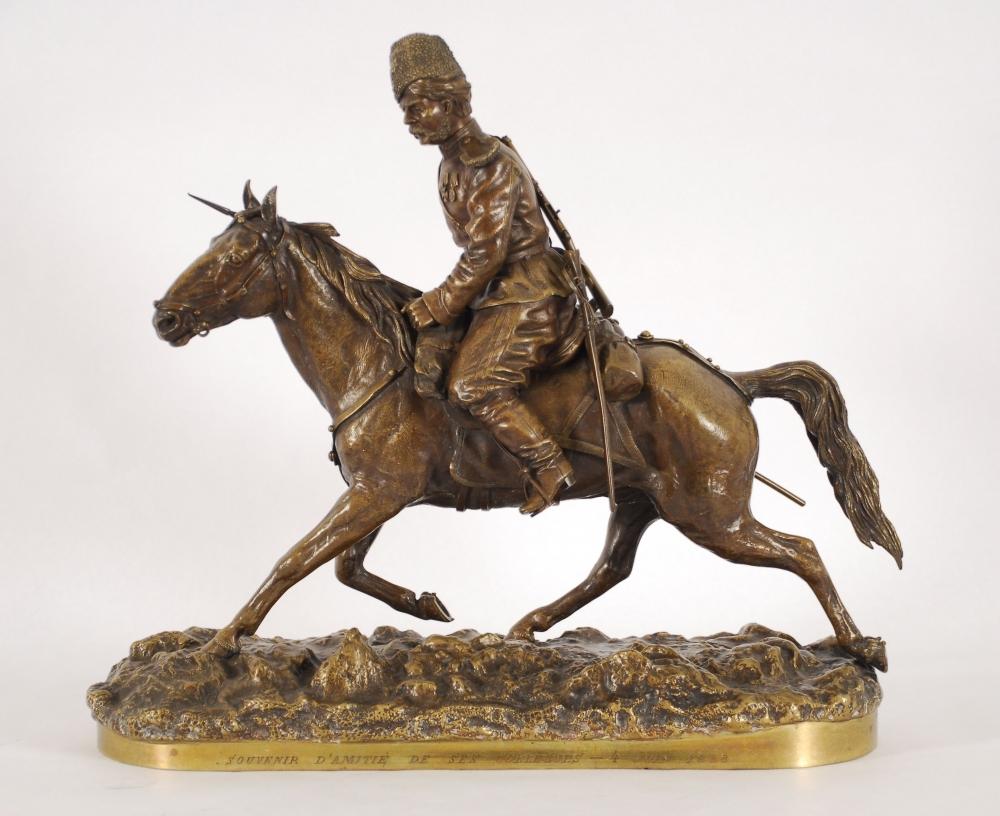 Петр Самонов - Казак Атаманского полка-бронза скульптура продаю антиквариат