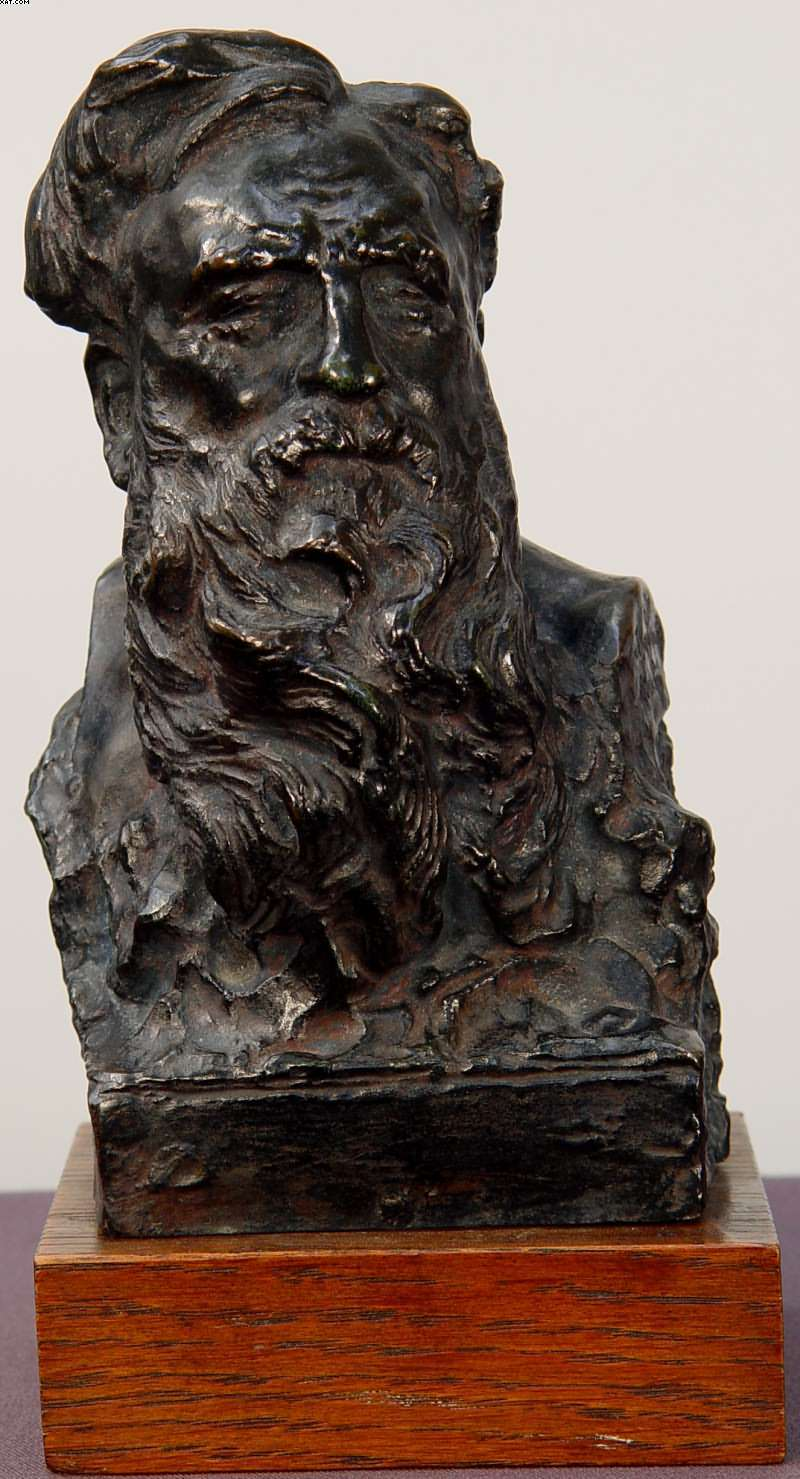seraphin-soudbinine - bust-of-Rodin-1909-AlexisRudierFoundr-6inch