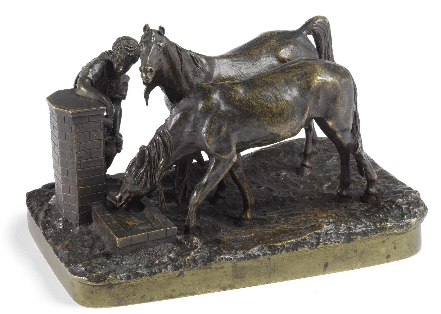 vasily-yakovlevich-grachev --грачев-у-колодца-лошади бронза